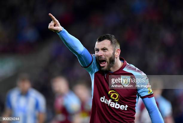 Burnley's Phil Bardsley gestures