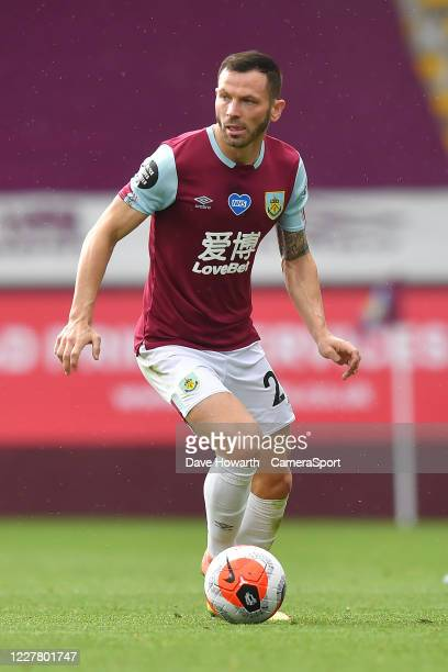 Burnley's Phillip Bardsley during the Premier League match between Burnley FC and Brighton Hove Albion at Turf Moor on July 26 2020 in Burnley United...