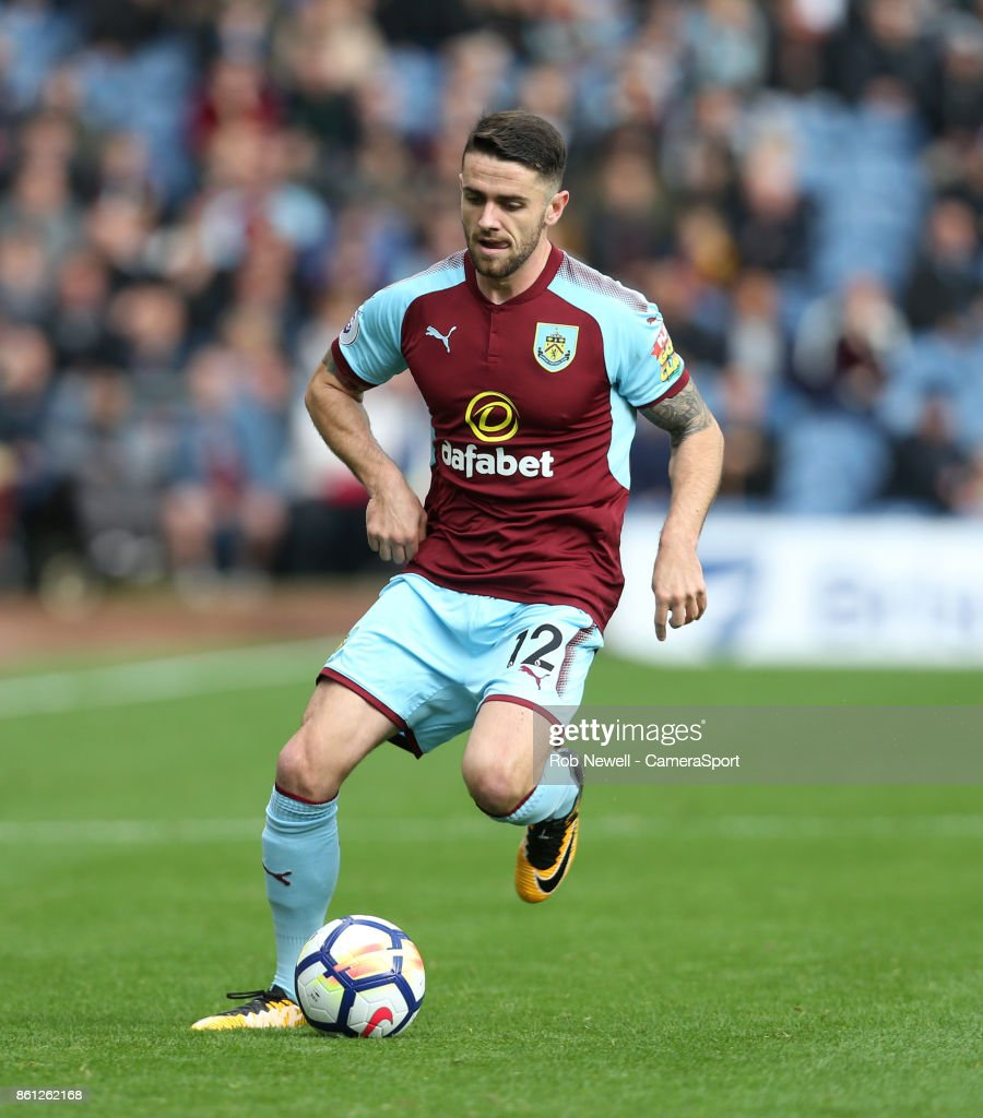 Burnley's Robbie Brady during the Premier League match between Burnley and West Ham United at Turf Moor on October 14, 2017 in Burnley, England.