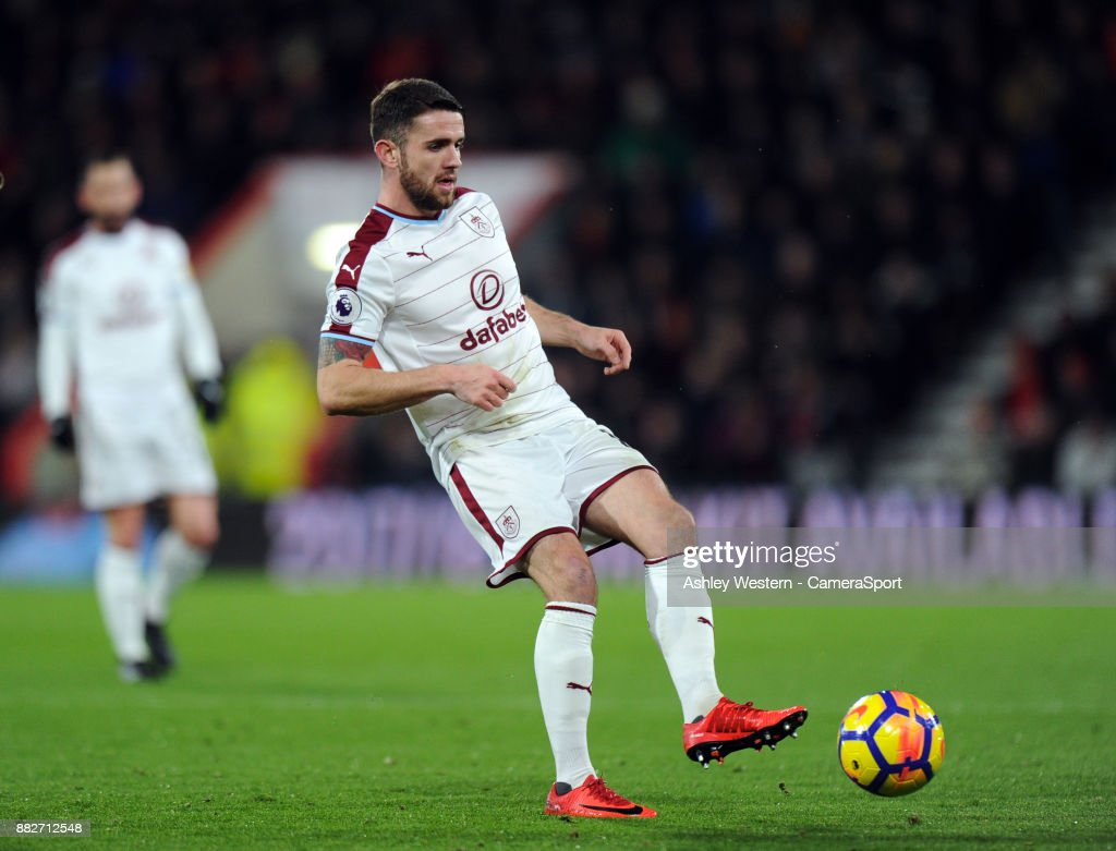 Burnley's Robbie Brady in action at the Vitality Stadium during the Premier League match between AFC Bournemouth and Burnley at Vitality Stadium on November 29, 2017 in Bournemouth, England.