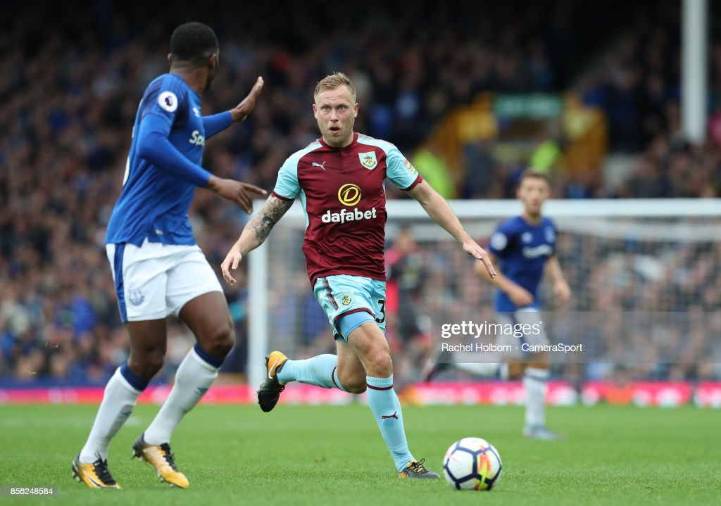 Burnley's Scott Arfield during the Premier League match between Everton and Burnley at Goodison Park on October 1, 2017 in Liverpool, England.