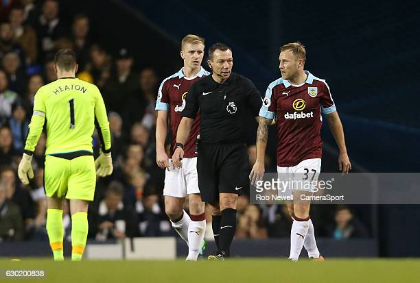 Burnley's Scott Arfield with an injury to his finger during the Premier League match between Tottenham Hotspur and Burnley at White Hart Lane on...