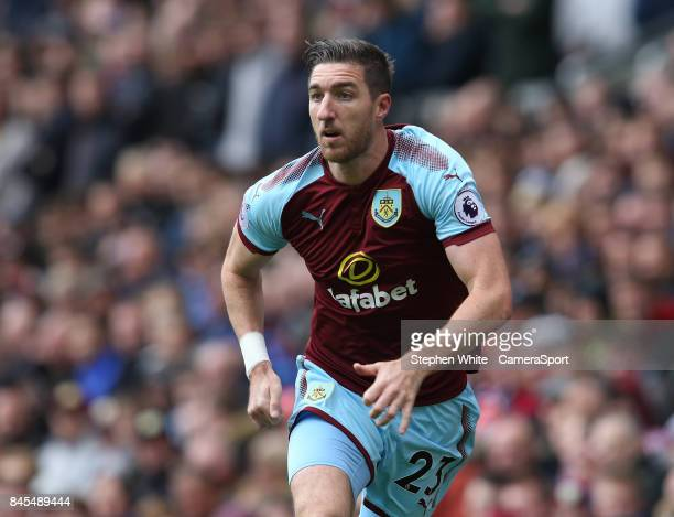 Burnley's Stephen Ward during the Premier League match between Burnley and Crystal Palace at Turf Moor on September 10 2017 in Burnley England