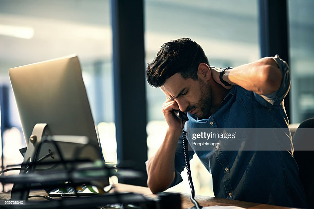 Burnout - bad for business, bad for your health : Stock-Foto