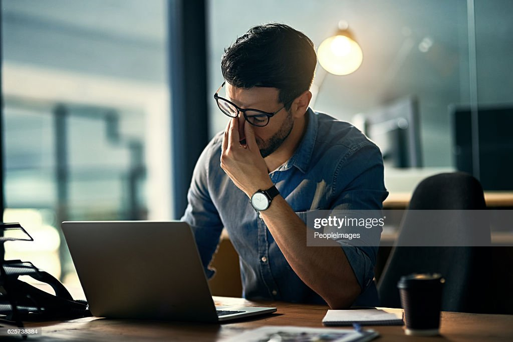 Burnout is killing his career : Stock Photo