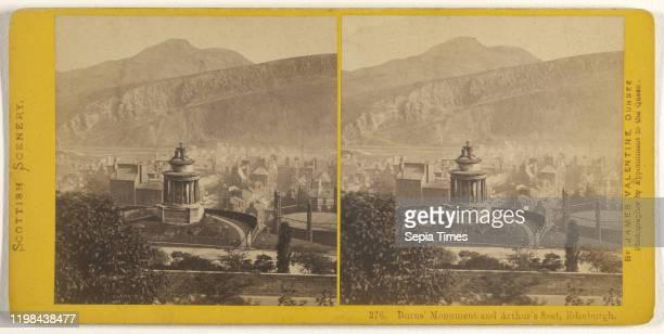 Burns' Mountain and Arthur's Seat Edinburgh James Valentine 1870s Albumen silver print