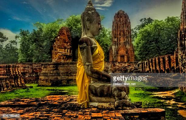 Burnt Buddha in Old Capital of Thailand