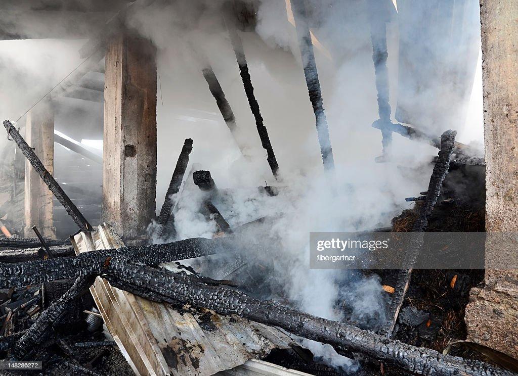 Burnt house : Stock Photo