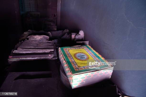 Burnt household furnitures are seen following a fire in Dhaka Bangladesh's capital city on February 22 2019 Funerals started on February 22 for...