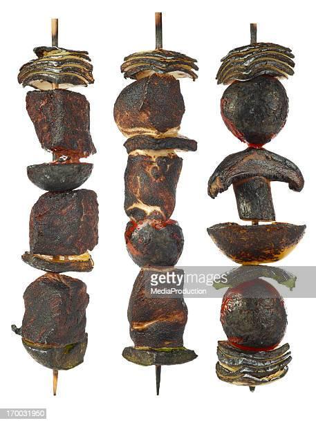 Burnt kebabs