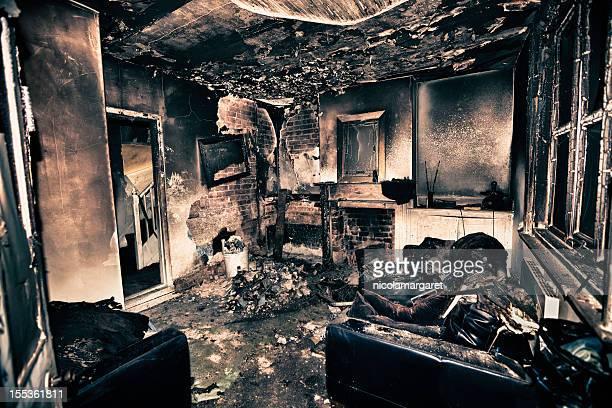 Burnt out Wohnzimmer
