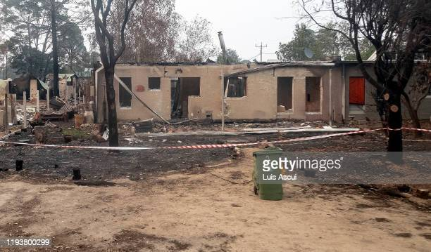 Burnt property is seen in Mallacoota on January 15 Australia The Princes Highway between Mallacoota and Orbost remains closed to public due to the...