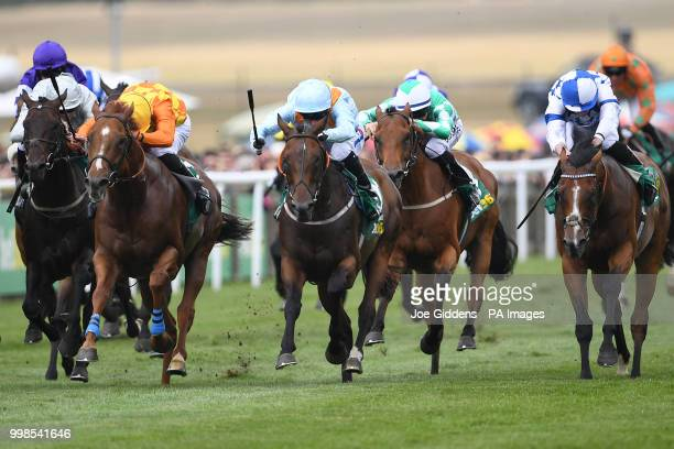 Burnt Sugar ridden by Paul Hanagam wins the bet365 Bunbury Cup Handicap during day three of The Moet Chandon July Festival at Newmarket Racecourse