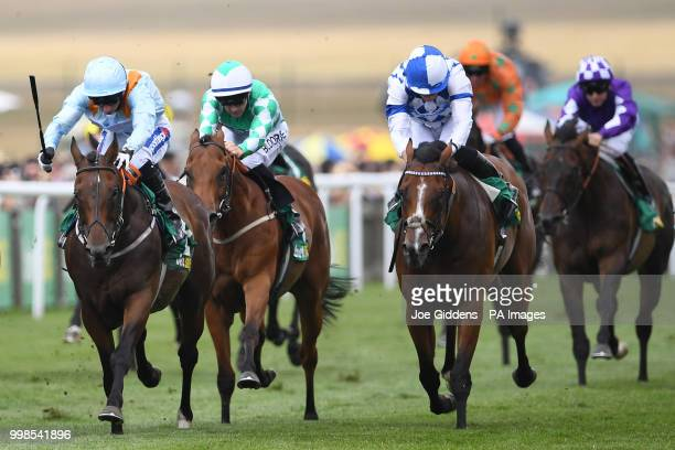 Burnt Sugar ridden by Paul Hanagan wins the bet365 Bunbury Cup Handicap during day three of The Moet Chandon July Festival at Newmarket Racecourse