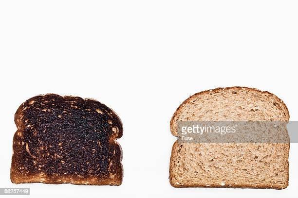 Burnt Toast and Bread Slice