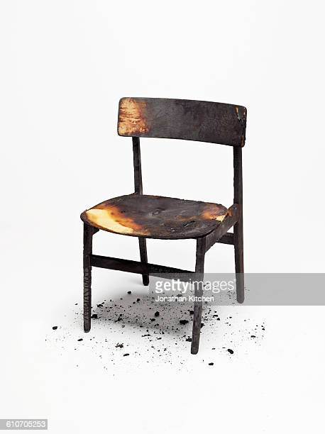 Burnt Wooden Chair