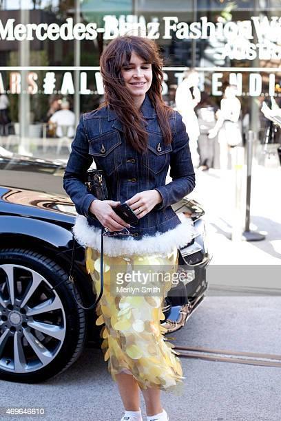 Buro 24/7 Founder Miroslava Duma is seen following the Maticevski show at MercedesBenz Fashion Week Australia 2015 at Carriageworks on April 14 2015...