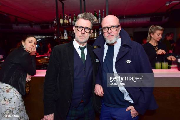 Burr Murphy and Andrew Hetherington attend the Spring Party to benefit Aperture and to celebrate The Photographer in the Garden at Public Hotel on...