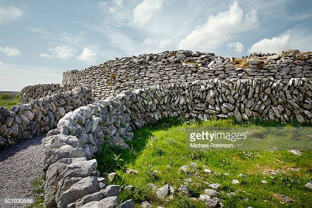 burren ring fort - michael robinson stock pictures, royalty-free photos & images
