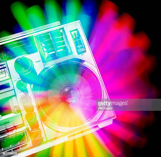 Burst of Color from Boom Box