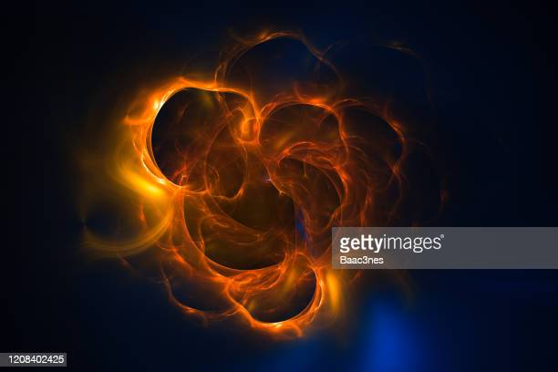 burst of glowing lines and particles - big bang stock pictures, royalty-free photos & images