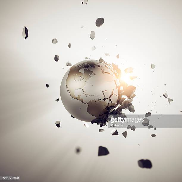 bursting globe america - asteroid stock pictures, royalty-free photos & images
