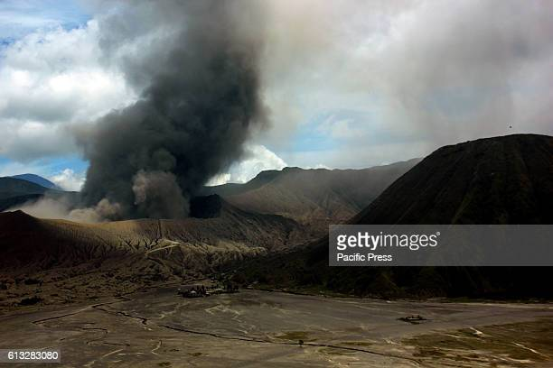 Bursts of volcanic ash from Mount Bromo Probolinggo East Java September 7 2016 The activity of eruption of Mount Bromo high enough yet to show a...