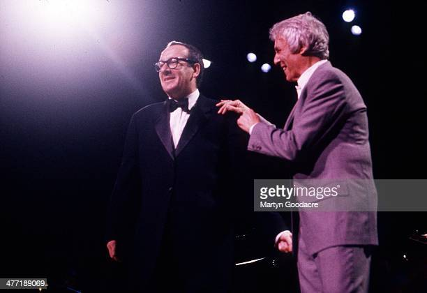 Burt Bacharach and Elvis Costello perform on stage at Royal Festival Hall London United Kingdom 1998