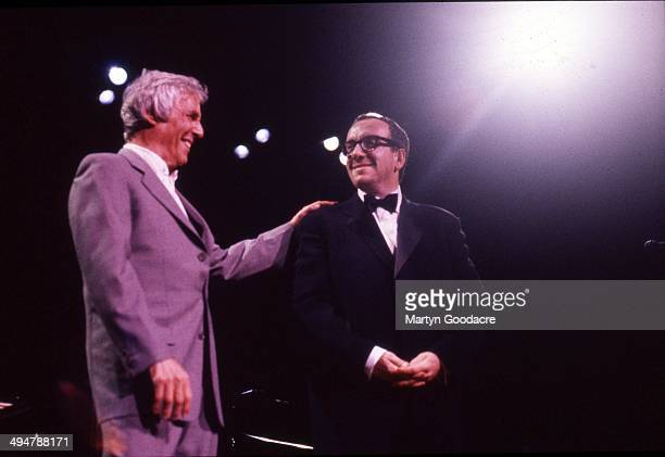 Burt Bacharach and Elvis Costello perform on stage at the Royal Festival Hall London United Kingdom October 1998