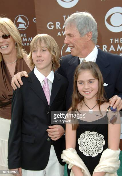Burt Bacharach and family during The 48th Annual GRAMMY Awards Arrivals at Staples Center in Los Angeles California United States