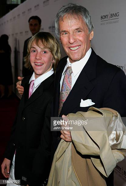 Burt Bacharach and guest during 2006 Sony/BMG GRAMMY After Party Red Carpet at Roosevelt Hotel in Hollywood California United States
