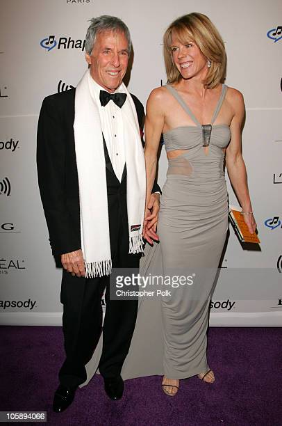 Burt Bacharach and Jane Bacharach during 2006 Clive Davis PreGRAMMY Awards Party Arrivals at Beverly Hilton Hotel in Beverly Hills California United...
