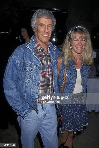 Burt Bacharach and Jane Hansen during Strictly Western II Steppin' For The Cure AMFAR Benefit at Beverly Hilton Hotel in Beverly Hills CA United...