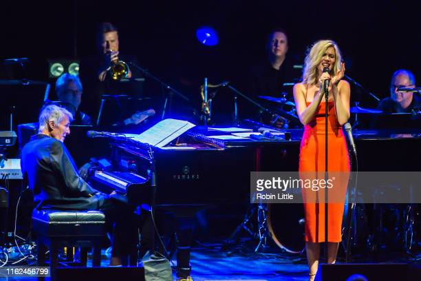 Burt Bacharach and Joss Stone perform at The Eventim Apollo, Hammersmith on July 16, 2019 in London, England.