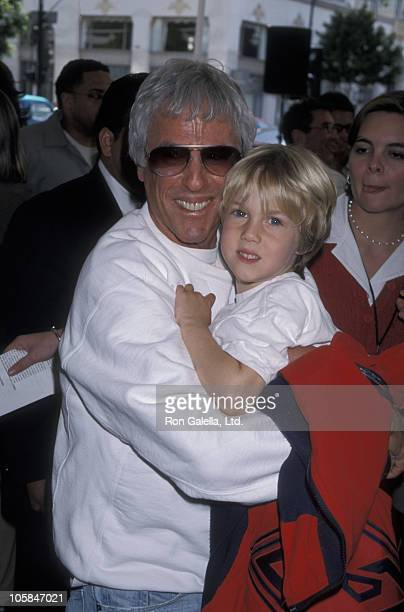 Burt Bacharach and son during Quest for Camelot Premiere at Mann Chinese Theatre in Hollywood California United States