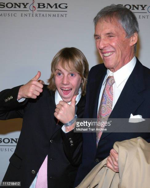 Burt Bacharach and son Oliver during 2006 Sony/BMG GRAMMY After Party at Roosevelt Hotel in Hollywood California United States