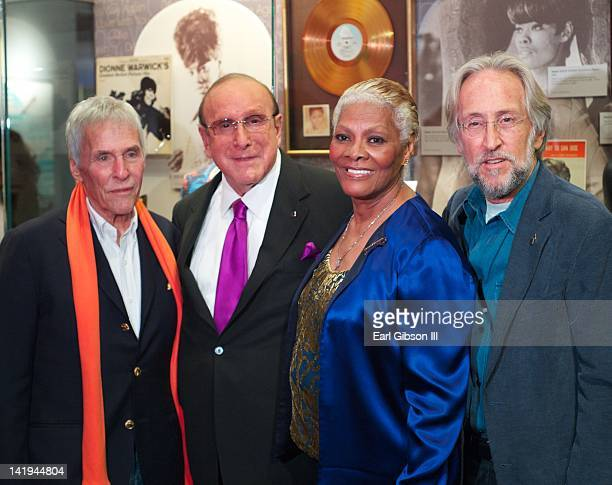 Burt Bacharach Clive Davis Dionne Warwick and Neil Portnow help honor Dionne Warwick's 50th year in music celebration at The GRAMMY Museum on March...