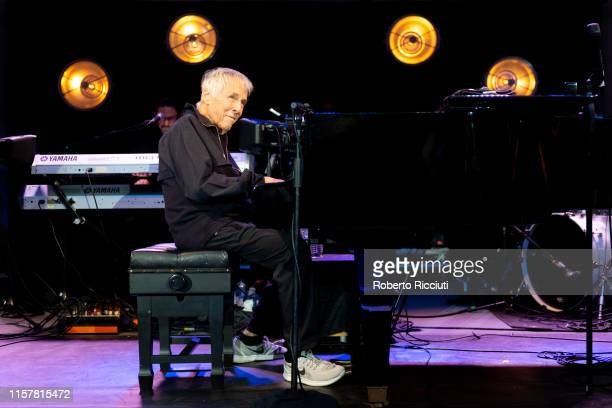 Burt Bacharach performs on stage at Kelvingrove Park on July 26 2019 in Glasgow Scotland