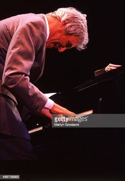 Burt Bacharach performs on stage with Elvis Costello at the Royal Festival Hall London United Kingdom 1998