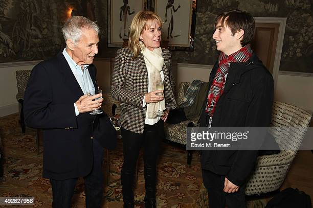 Burt Bacharach wife Jane Hansen and cast member Daniel Bailen attend the press night after party for Close To You Bacharach Reimagined at The...