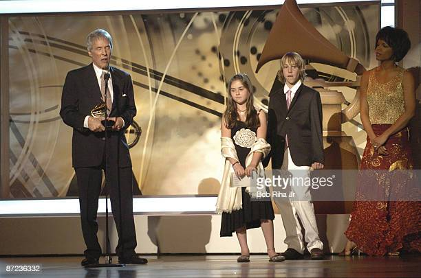 Burt Bacharach winner of Best Pop Instrumental Album for At This Time with daughter Riley son Oliver and presenter Nnenna Freelon