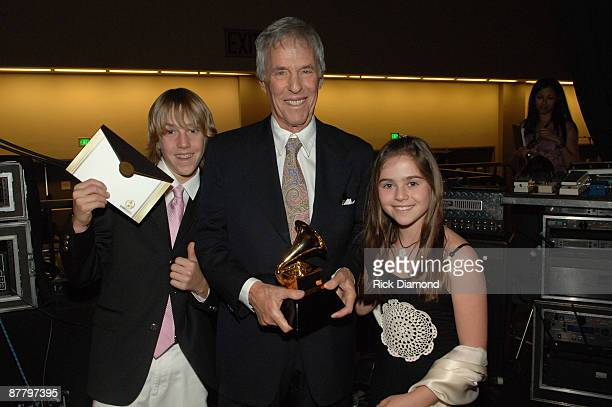 Burt Bacharach winner of Best Pop Instrumental Album for At This Time with son Oliver and daughter Raliegh **EXCLUSIVE**