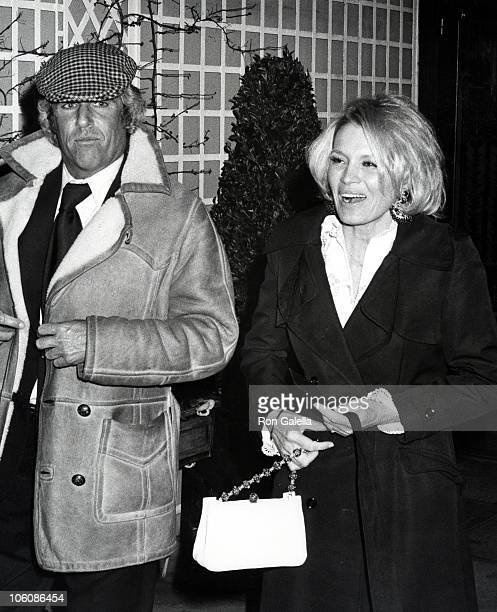 Burt Bachrach and Angie Dickinson during Party Hosted by Irving Lazar April 6 1975 at The Bistro Restaurant in Los Angeles California United States