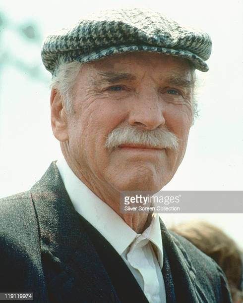 Burt Lancaster US actor wearing a flat cap in a publicity portrait issued for the film 'Field of Dreams' USA 1989 The 1989 drama directed by Phil...