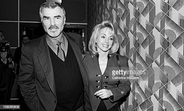 Burt Reynolds and Pam Seals at the Sixtythird Annual New York Film Critics Circle Awards presentations at the Rainbow Room in January 1998 in New...