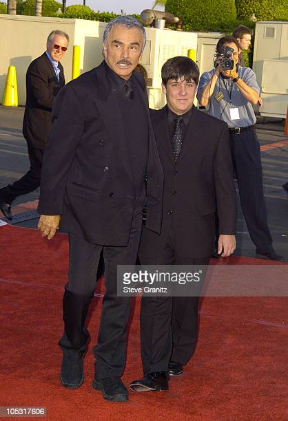 Burt Reynolds and son Quinton during 4th Annual Taurus World Stunt Awards Arrivals at Paramount Studios in Los Angeles California United States