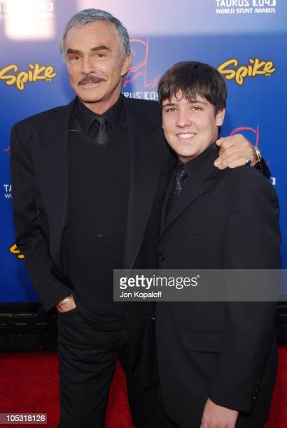 Burt Reynolds and son Quinton during 4th Annual Taurus World Stunt Awards at Paramount Studios in Los Angeles CA United States