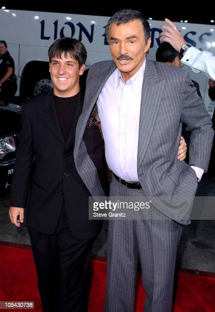 Burt Reynolds and son Quinton during The Longest Yard Los Angeles Premiere Arrivals at Grauman's Chinese Theatre in Hollywood California United States