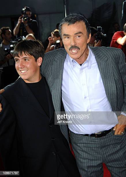 Burt Reynolds and son Quinton during The Longest Yard Los Angeles Premiere Arrivals at Grauman's Chinese Theater in Hollywood California United States