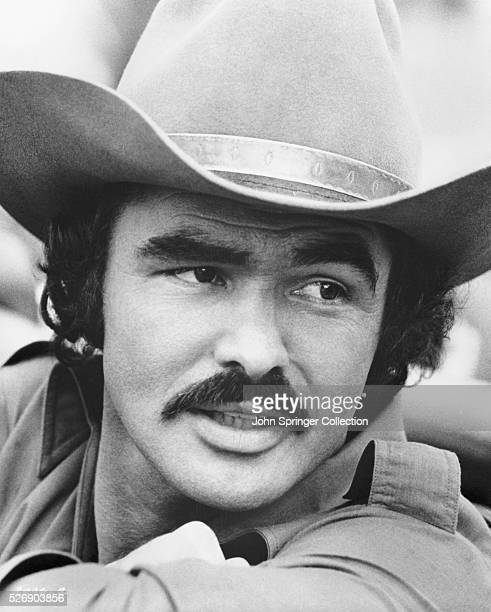 Burt Reynolds as the Bandit in the 1977 comedy Smokey and the Bandit which also stars Sally Field Jerry Reed and Jackie Gleason